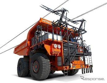 トロリー充電式のフル電動ダンプトラック、日立建機とABBが共同開発へ