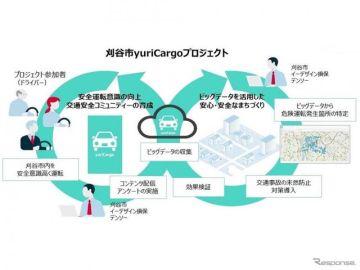 ビッグデータで危険運転発生箇所を特定…「刈谷市yuriCargoプロジェクト」開始 デンソーなど