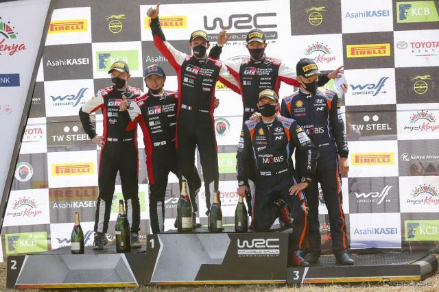 WRC第6戦サファリラリー・サファリで勝田が2位《写真提供 トヨタGAZOOレーシング》