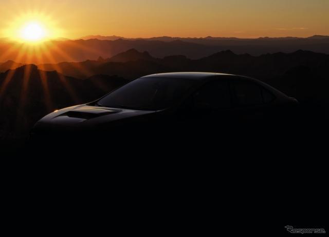 スバル WRX 次期型のティザーイメージ《photo by SUBARU》