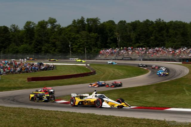 #2 ニューガーデンはレースをほぼ完全に支配して、ポール・トゥ・ウインを決める。《Photo by INDYCAR》