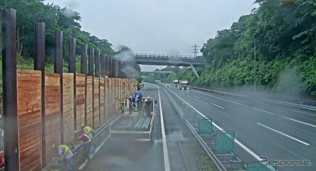 復旧作業状況(7月9日6時現在)《写真提供 中日本高速道路》