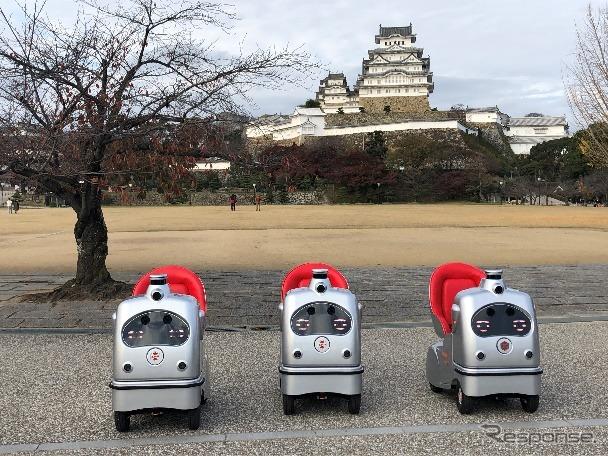 自動運転一人乗りロボ、ラクロ《写真提供 NTTドコモ》