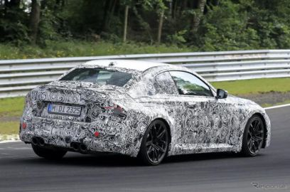 BMW M2クーペ 新型プロトタイプをニュルで再び目撃…どう進化する?