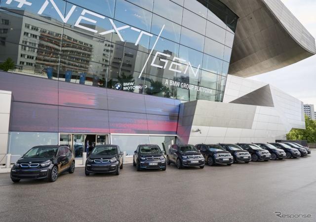 BMW i3 の双方向充電の研究プロジェクト車両《photo by BMW》