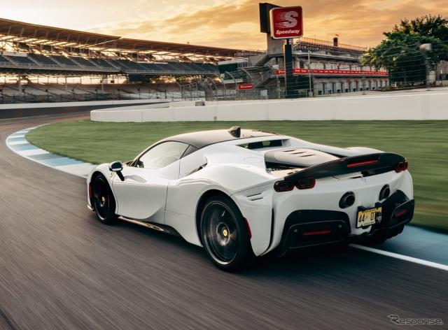 米国のインディアナポリスモーターウェイにおいて量産車の世界最速ラップタイムを記録したフェラーリ SF90 ストラダーレ《photo by Ferrari》