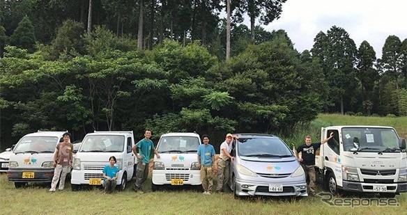 平成29年(2017年)九州北部豪雨災害で被災地に運搬した車両《写真提供 オートバックスセブン》