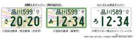 東京2020オリンピック・パラリンピック競技大会特別仕様ナンバープレート《写真提供 国土交通省》