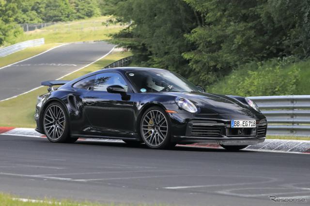 ポルシェ 911ハイブリッド 市販型プロトタイプ(スクープ写真)《APOLLO NEWS SERVICE》