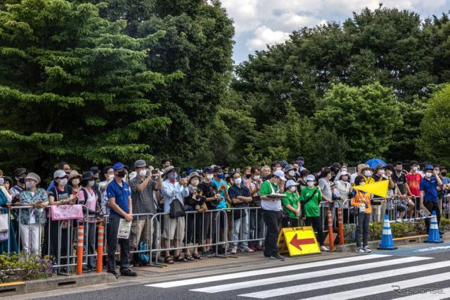 東京2020オリンピック、自転車女子ロードレース(7月25日、武蔵野の森公園付近)《Photo by Carl Court/Getty Images News/ゲッティイメージズ》