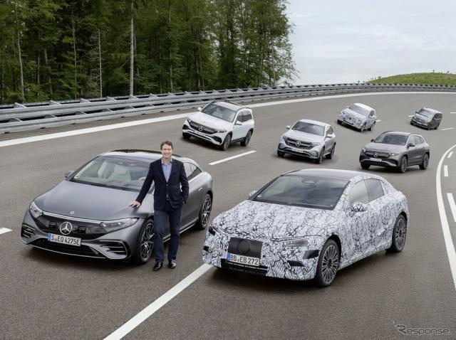 メルセデスベンツのEVラインナップ(開発プロトタイプも含む)《photo by Mercedes-Benz》