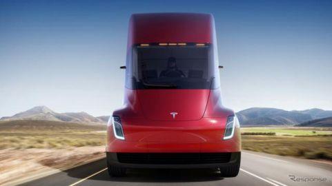 テスラ初のEVトラック『セミ』、納車開始を2022年に変更…電池と半導体不足の影響