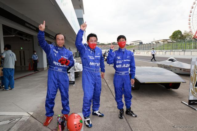 5時間レースで総合優勝したTEAM RED ZONEのドライバー《写真撮影 竹内英士》