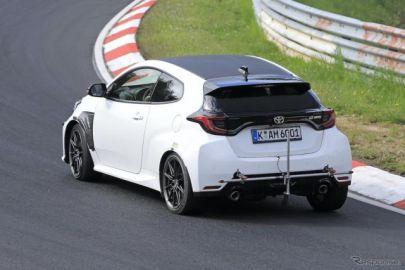トヨタ GRヤリスの頂点、『GRMN』登場は2022年か? 最新プロト車両をニュルで激写