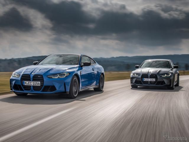 BMW M4 コンペティション・クーペ 新型の「M xDrive」と M3 コンペティション・セダン 新型の「M xDrive」《photo by BMW》