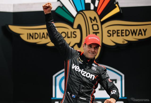 """""""インディ・ロードコース""""での第12戦、ウィル・パワーが今季初優勝を飾った。《Photo by INDYCAR》"""