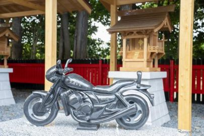 「オートバイ神社」が柏市に誕生…バイクの石像が鎮座、「ホールインワン神社」も併設