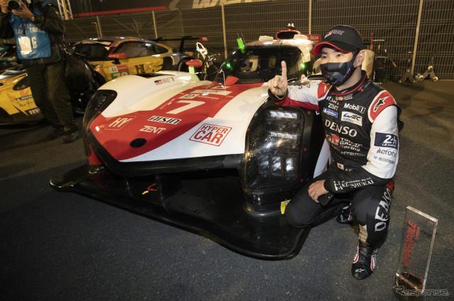 #7 トヨタGR010の小林可夢偉がポールポジションを獲得。《Photo by TOYOTA》