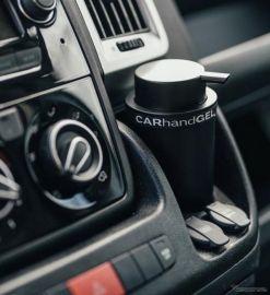 ハンドジェルもスタイリッシュに、熱対策もバッチリな車載用アルコール消毒・除菌液ボトル
