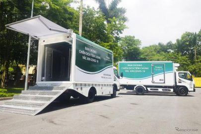 三菱ふそうベトナム販売代理店、現地政府に小型トラック『キャンター』126台を寄贈…新型コロナ対策支援