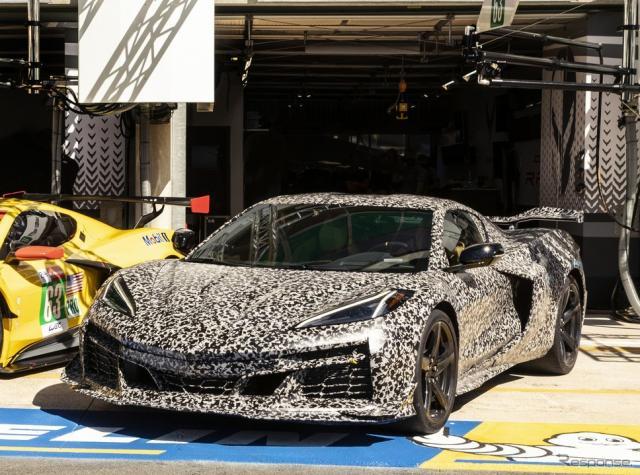 シボレー・コルベット Z06 新型のプロトタイプ《photo by Chevrolet》