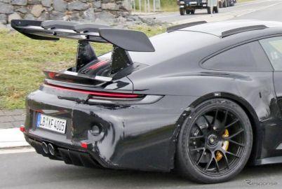 究極の自然吸気911へ…新型「GT3 RS」、巨大なリアスポイラーは生産型で確定か