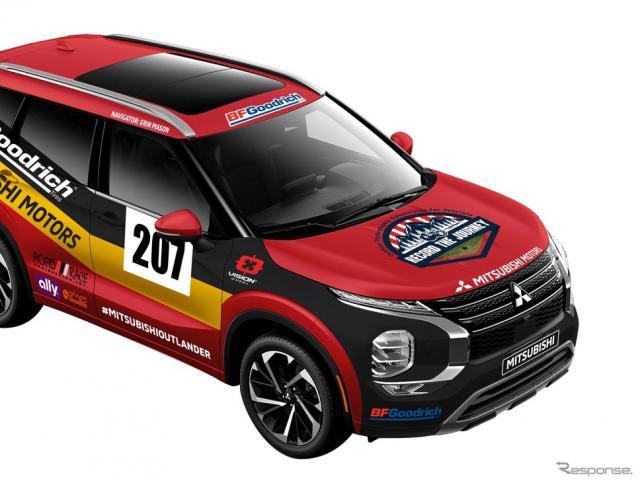 三菱 アウトランダー 新型の米「Rebelle Rally」参戦車両《photo by Mitsubishi Motors》
