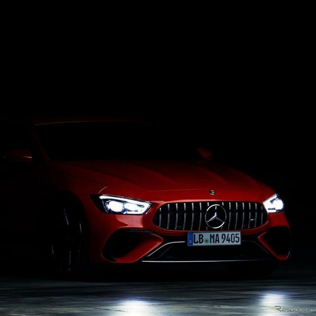 メルセデスAMGの「Eパフォーマンス」を搭載する最初の高性能ハイブリッド車のティザー写真《photo by Mercedes-Benz》