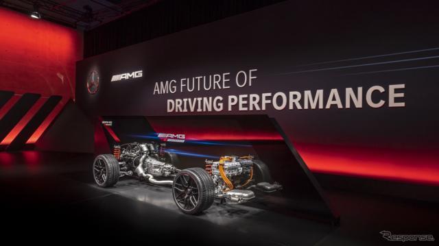 メルセデスAMG GT 4ドアクーペの「Eパフォーマンス」搭載プロトタイプ車《photo by Mercedes-Benz》