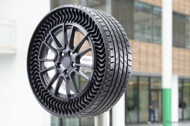 GMとミシュランが共同開発した次世代エアレスタイヤ『アプティス』のプロトタイプ《photo by Michelin》