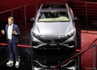 メルセデスAMG、初の市販電気自動車「EQS」を761馬力に強化