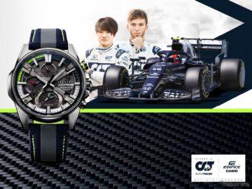 カシオ、F1チームとコラボの腕時計発売、F1同様のカーボンを使用