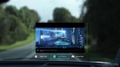 前面ガラスが70インチのスクリーンに、ファーウェイの新HUD