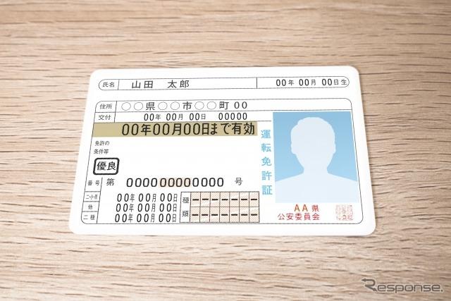 運転免許証(イメージ)《写真出典 写真AC》