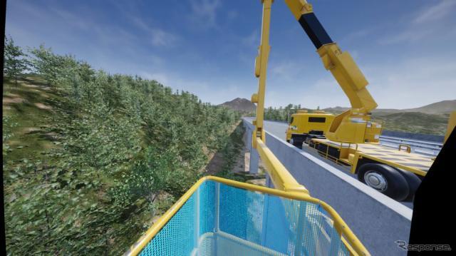 高速道路インフラメンテナンス作業点検のVR(イメージ)《画像提供 アクティオ》