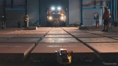 88トントラック、レゴブロックで牽引に成功
