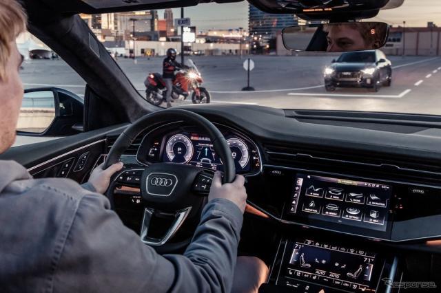 アウディのC-V2Xテクノロジーのデモンストレーション(参考画像)《photo by Audi》