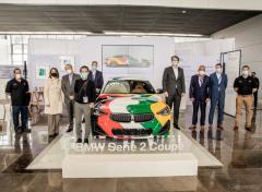 BMW、メキシコとドイツの国旗を表現したアートカー制作