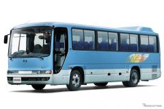 日野の中型バス『メルファ』一部改良…安全装備を拡充、ICTサービス対応でビジネスも支援