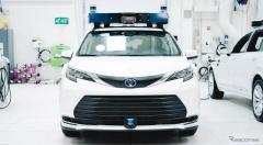 トヨタ、自動運転のミニバン試作車両発表、米国で走行テスト