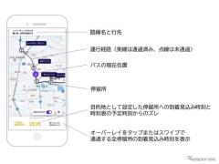 高速バスの到着時刻を予測…会津バスがサービス提供