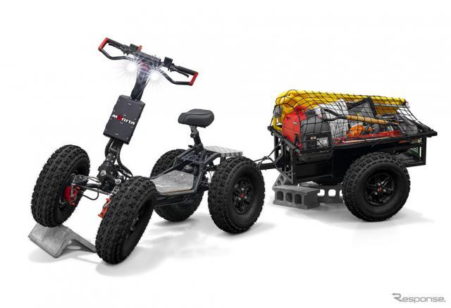 高い走破性と強力な搬送能力を誇る 電動資機材搬送車 EZ-Raider《写真提供 モリタホールディングス》
