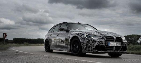 BMW 新型『M3』のワゴン版は縦長グリルが確定