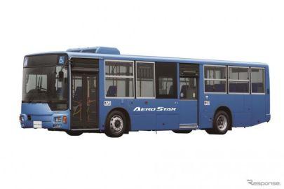 三菱ふそう、大型バス『エアロスター』新型発売、前扉にも開扉発車防止装置