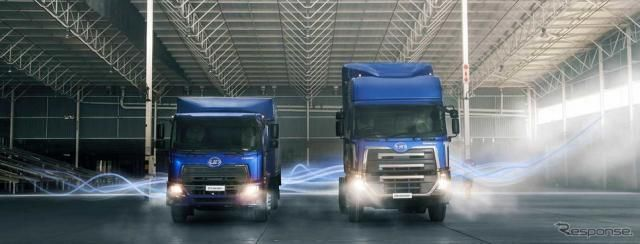UDトラックス、EU排ガス規制対応の大型・中型トラックを海外市場に投入