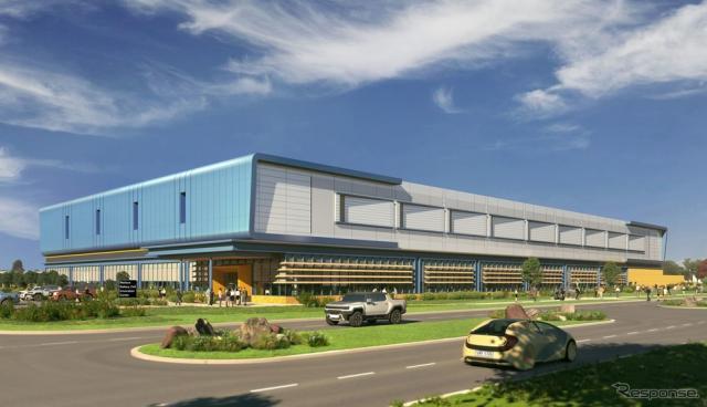 GMの「ウォレス・バッテリーセル・イノベーション・センター」の完成予想《photo by GM》
