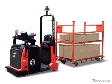 ZMP、最大可搬重量5トンの屋内外兼用無人けん引車を発表