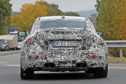 巨大エキゾーストパイプの迫力!BMW『M2コンペティション』新型を初スクープ