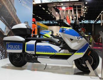 BMW、新型電動スクーター『CE 04』の警察仕様公開…航続130km