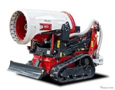 モリタの大風量+大量放水のタービン式消火装置…「アートな乗り物」に展示中
